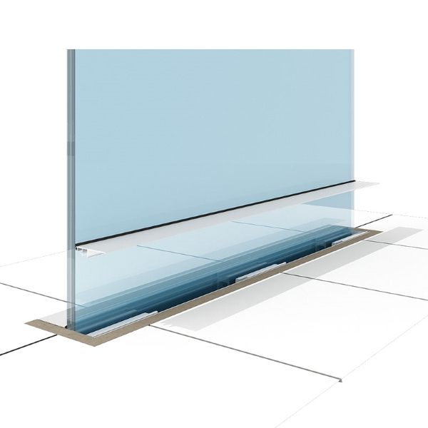 Balustrada sticla - Smart Premium inFloor detaliu - SmartFenster