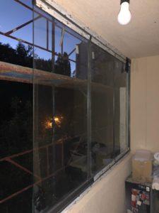Glisant Pliant sticla 8 mm standard TIARA balcon deschis partial