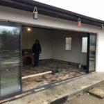 Glisant pentru terasa cu geam termopan SLIDE MASTER cu 8 canate deschis complet
