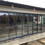 Glisant pentru terasa cu geam termopan SLIDE MASTER cu 8 canate inchis