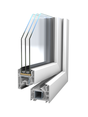 VEKA Softline 76 MD cu 3 garnituri - Smart fenster